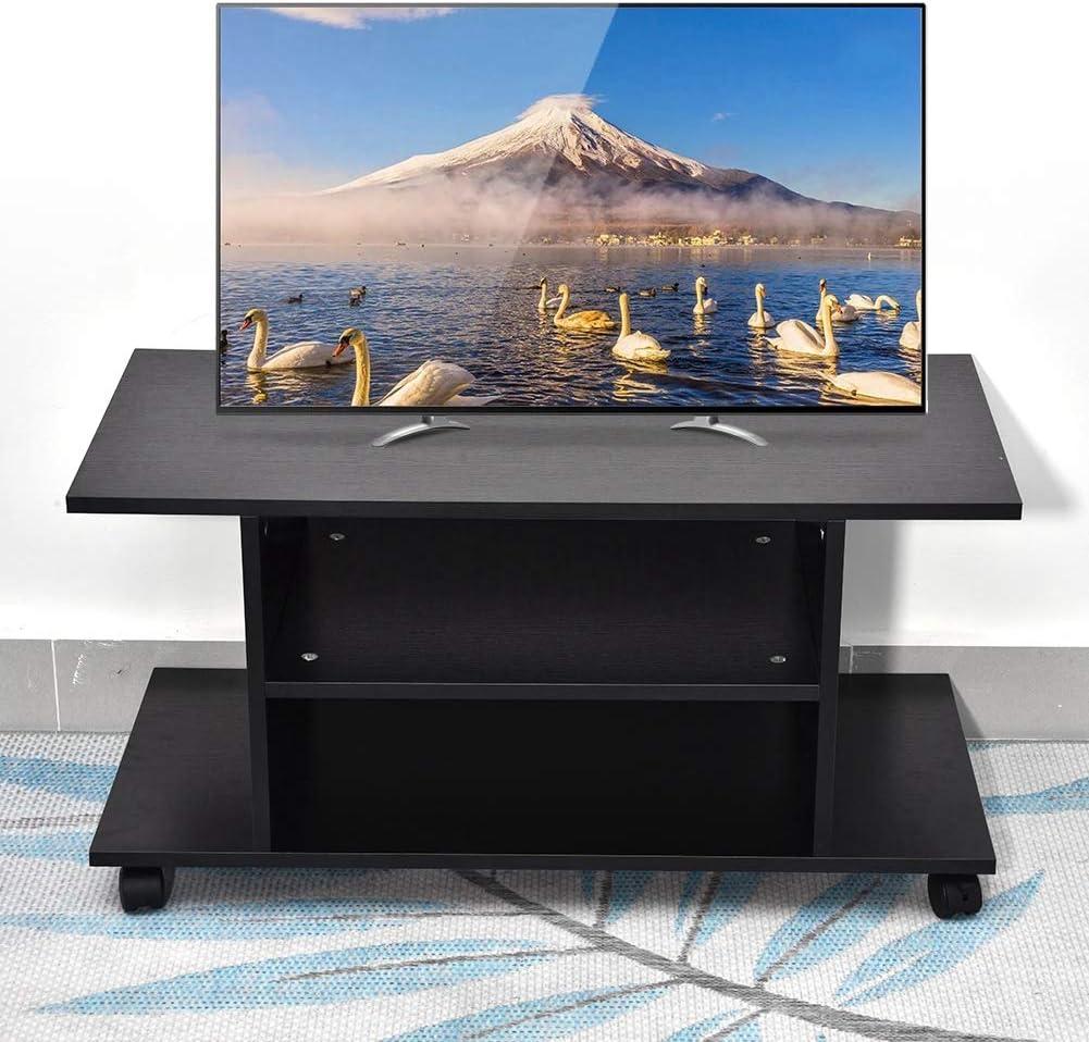 Estink - Soporte para TV de Madera para LCD LED, Soporte para TV de Suelo, Mesa de TV giratoria, Soporte para Pantallas de TV LCD LED, 80 x 40 x 40 cm: Amazon.es: Hogar