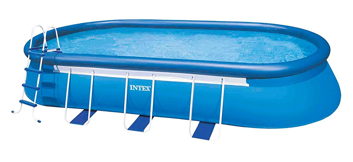 "Intex 20 x 12 x 48"" Oval Frame Pool Set w/ 1500 GPH Filter Pump & V-TRAP Vac"