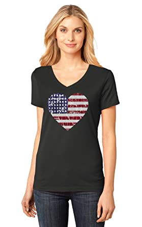 Swell Amazon Com American Heart Flag Usa Patriotic 4Th Of July Womens Hairstyles For Women Draintrainus