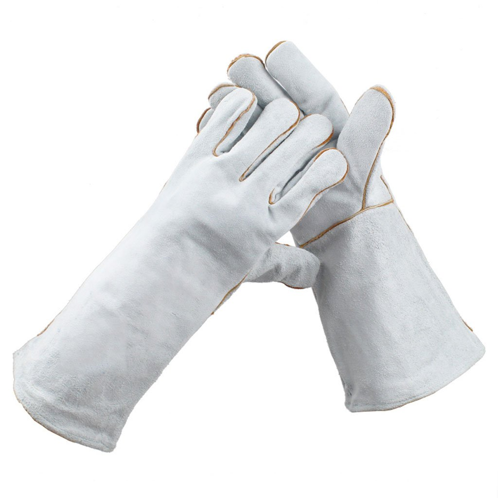 Moolo耐火グローブ溶接断熱材スプラッシュcut-proof厚み溶接手袋耐摩耗性高温度手袋 グレー 211484 B07DX1567W  グレー