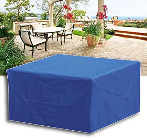Amazon Com Mahfei Rattan Furniture Covers Patio Set Cover For Rectangular Seats Garden Tables Adjustable Anti Uv Oxford Cloth Durable Free From Bad Weather Customizable Garden Outdoor