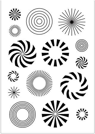 Lollipop Fireworks - Sellos de fondo circulares para mujer, sello transparente de goma, álbum de recortes, foto decorativa, tarjetas, sellos transparentes: Amazon.es: Juguetes y juegos