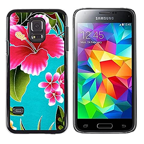 Graphic4You Hawaiian Hawaii Flower Thin Slim Rigid Hard Case Cover for Samsung Galaxy S5 Mini (Samsung Galaxy S5 Cases Hawaii)