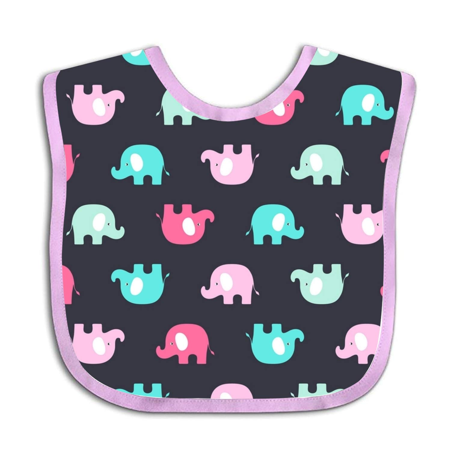 Baby Bandana Bib Super Absorbent, Soft Pink Blue Elephant Drool Bibs for Boys & Girls