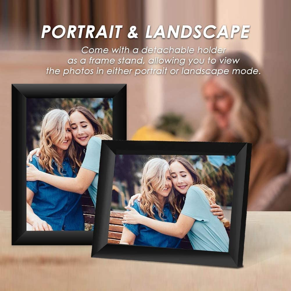 Ulltimaxx 10.1 Inch 16GB 40,000 Pics WiFi Digital Photo Frame with HD IPS Display Touch Screen Share Moments Instantly via Frameo App from Anywhere