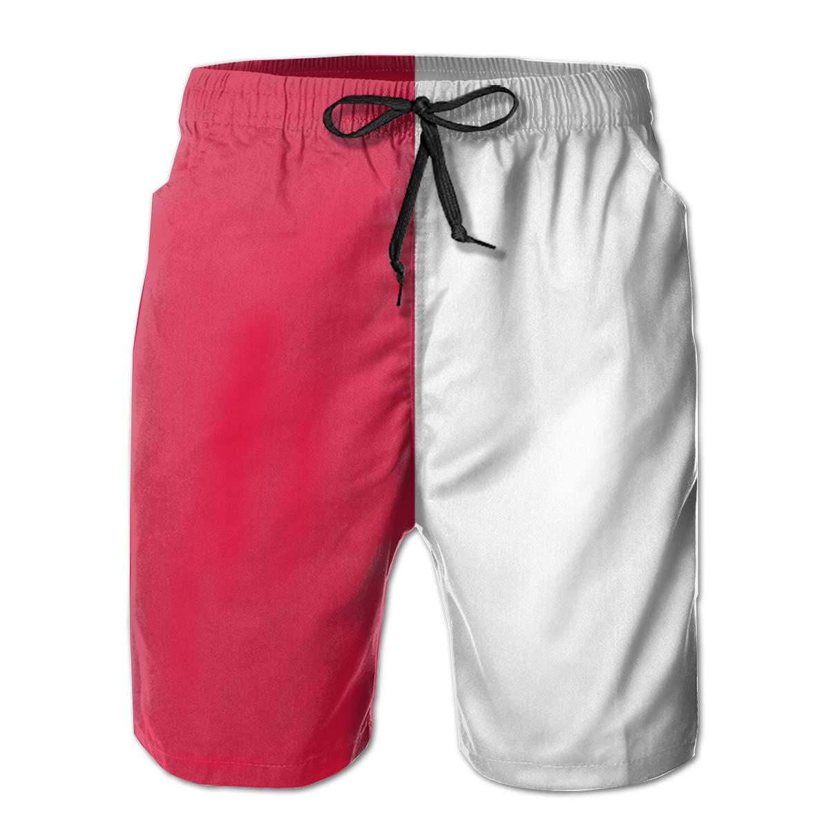 Casual Beach Shorts with Pockets Yt92Pl@00 Mens 100/% Polyester Poland Flag Swim Trunks