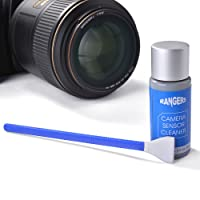 Rangers 12pcs Dry APS-C Sensor Cleaning Swab and 0.5ml alcoholic-free Cleaner Solution for DSLR CCD CMOS Digital Camera, Lens, Glasses. Vacuum packaging, lint-free sterile fabric, ideal for absorbing and sweeping away invisible particles and smudges