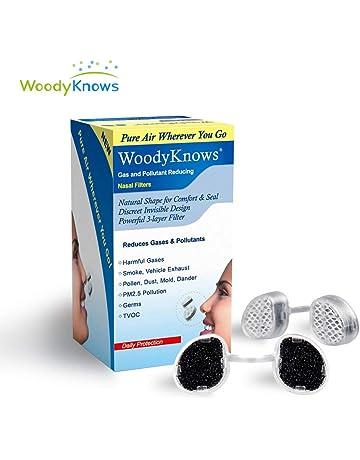 WoodyKnows Filtros Nasales que Reducción de Gases Contaminantes Filtros Nasales para Protección Anti-Alergia Causada