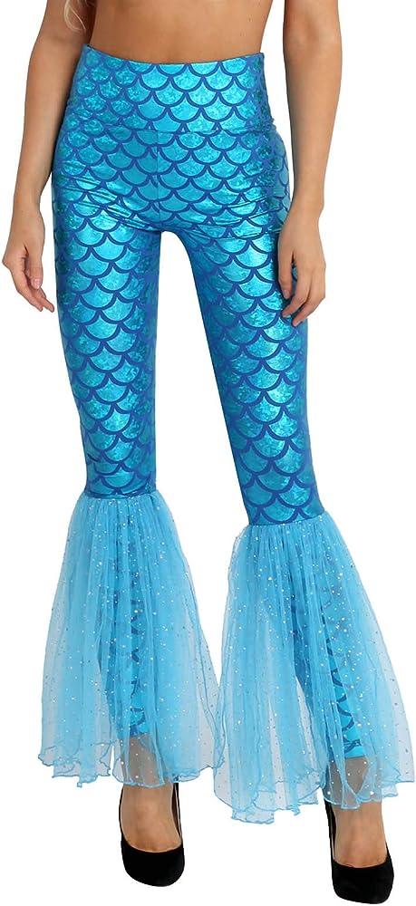 MSemis Leggings de Cola Sierena Disfraz de Sirena para Mujer ...