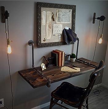 Amazon De Zjm Tables American Industrial Style Wandtisch An Der
