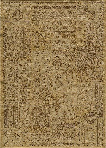 Momeni Rugs VINTAVIN-5SND2747 Vintage Collection, 100% New Zealand Wool Power Loomed Flatweave Transitional Area Rug, 2'7