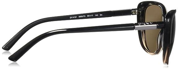DKNY DY 4121 Sunglasses 366073 Brown Transparent Gradient Striped Brown  56-17-140  Amazon.co.uk  Shoes   Bags 98d57a1de4