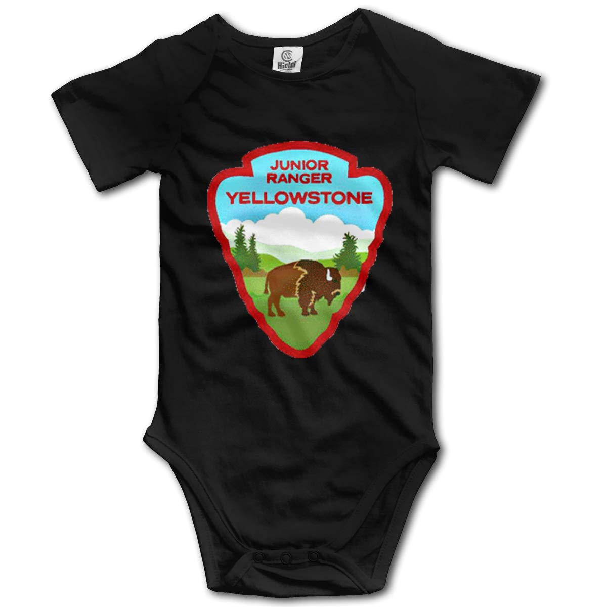 VANMASS Little Babys Yellowstone National Park Service Short Sleeve Climbing Bodysuits Playsuits