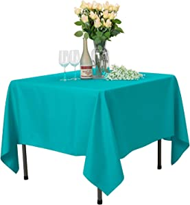 VEEYOO Square Tablecloth - 70x70 Inch Polyester Table Cloth Washable Wrinkle Free Dinner Tablecloth for Wedding, Party, Restaurant,Indoor and Outdoor Buffet Table - Caribbean Tablecloth