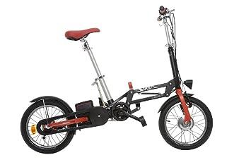 Solex-Bicicleta eléctrica plegable, color negro o rojo N3 N7-Batería de 24