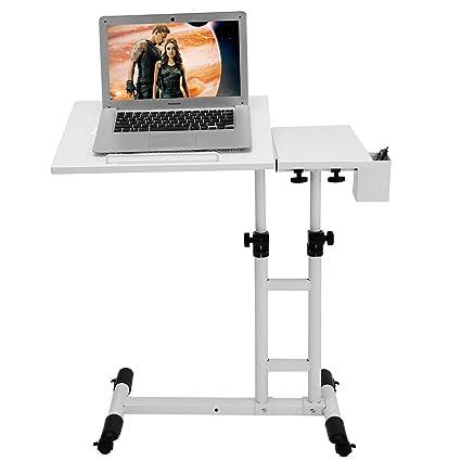 Altura ajustable con ruedas portátiles escritorio mesa de ordenador más de sofá cama mesa para escribir