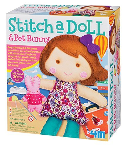4M Stitch A Doll - Go Shopping Doll