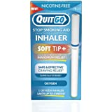 Quit Smoking Aid Oxygen Inhaler + Soft Tip Chewable Filter to Help Curb Cravings, Nicotine Free Non-Addictive Stop Smoking Support & Oral Fixation Relief (1 Pack, Oxygen)