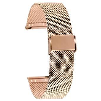 Correa de Reloj de Malla de Acero Inoxidable de 20 mm de Oro ...