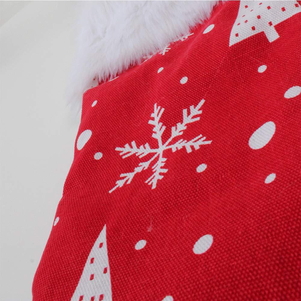 White Tenrany Home Bianca Calza di Natale 2 PCS Grande Lusso in Finta Pelliccia Calze Natalizie Personalizzate Christmas Stockings per Regalo Decorazione di Camino per Feste familiari