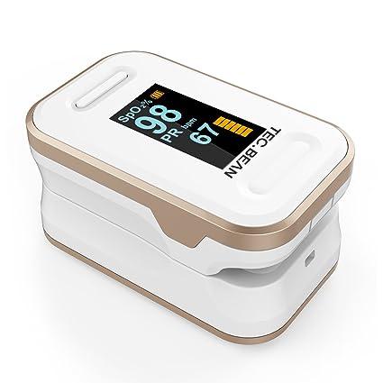 BEAN Oxímetro de pulso actualizado, Pulsómetro para dedo, Monitor de saturación de