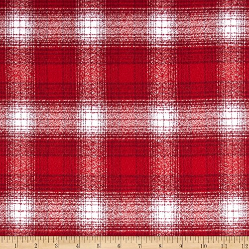 Robert Kaufman Kaufman Mammoth Flannel Plaid Red Fabric By The Yard (Plaid Flannel Red Fabric)