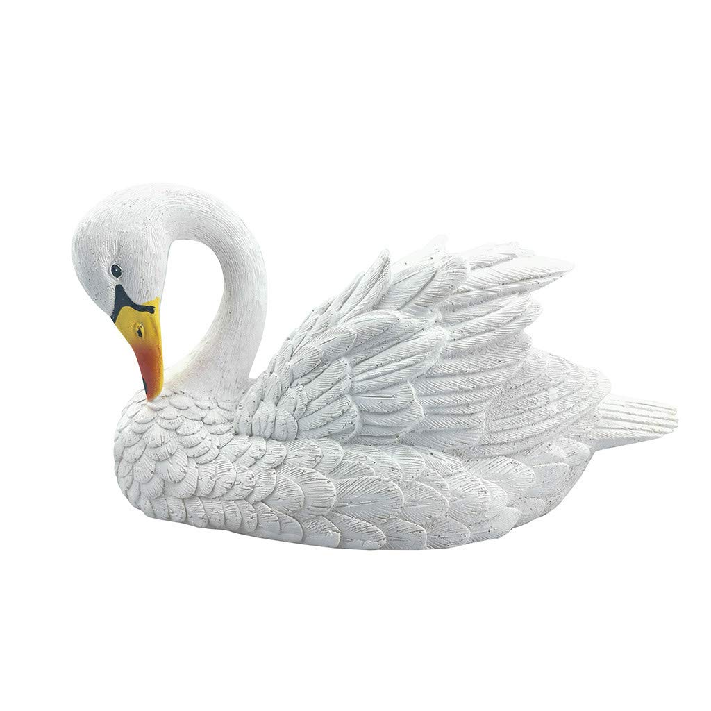 ❤️Byedog❤Decoy Floating White Swan Resin Simulation for Landscape Gardening Decoration by Byedog_❤️Furnitures