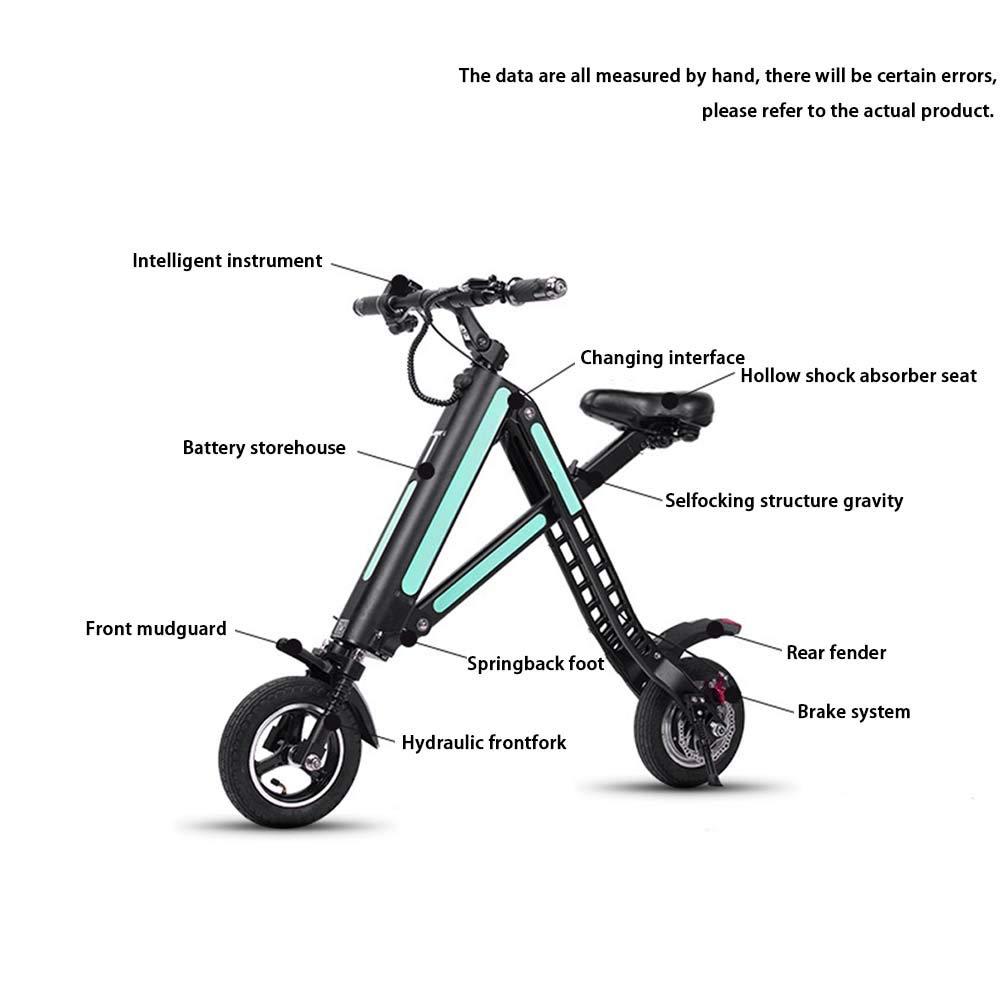 Amazon.com: XZZTX - Patinete eléctrico para adultos, mini ...
