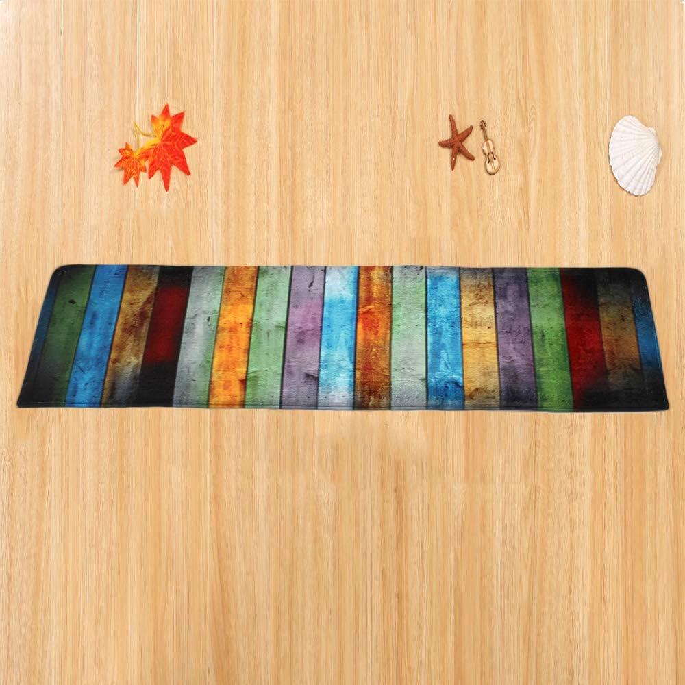 RainBabe Tapis de Bain Color/é Non-Slip Paillasson Entr/ée D/étage Tapis de Porte Avant Int/érieur Antid/érapant en Polyester