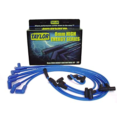Taylor Cable 64628 Blue 8mm High Energy Spark Plug Custom Wire Set: Automotive