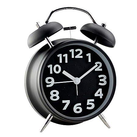 ZHANGKANG Despertador Retro/Despertador de Campana/Reloj de Mesa ...