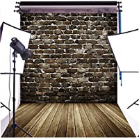 DULUDA 5X7FT Black Brick Wall Wooden Floor Pictorial cloth Customized photography Backdrop Background studio prop GMT02