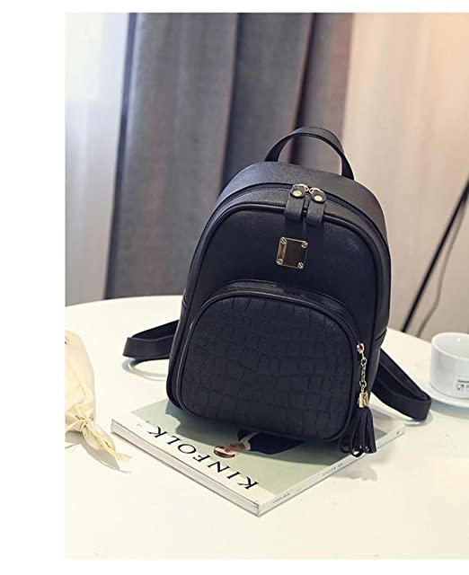 a756e02356 VIASA New Fashion Women Backpacks Leisure Girl School Bag Ladies Bags BK  (Black)
