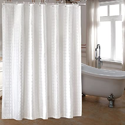 Amazon.com: Ufaitheart Extra Long Fabric Shower Curtain 72 x 84 Inch ...