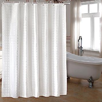 Ufaitheart Extra Long Fabric Shower Curtain 72 X 78 Inch Heavy Duty For