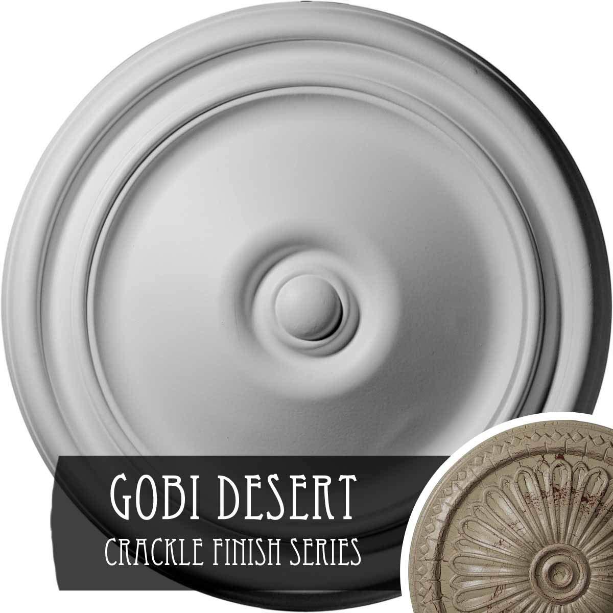 Ekena Millwork CM12REGDC Reece Ceiling Medallion, Gobi Desert Crackle