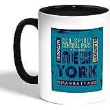كوب سيراميك للقهوة، اسود، new york بتصميم