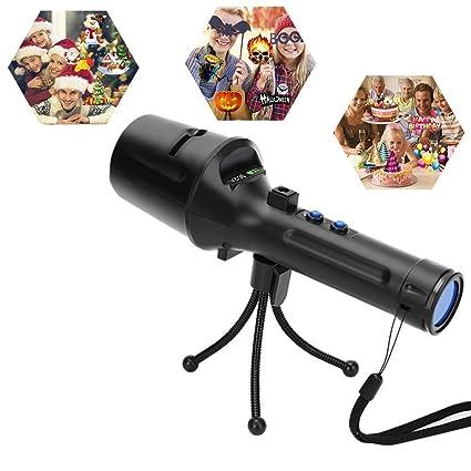 Kepeak Christmas Projector Flashlight, Displacement Dynamic Projection, 7 Slides Pattern Slides Decoration Light for