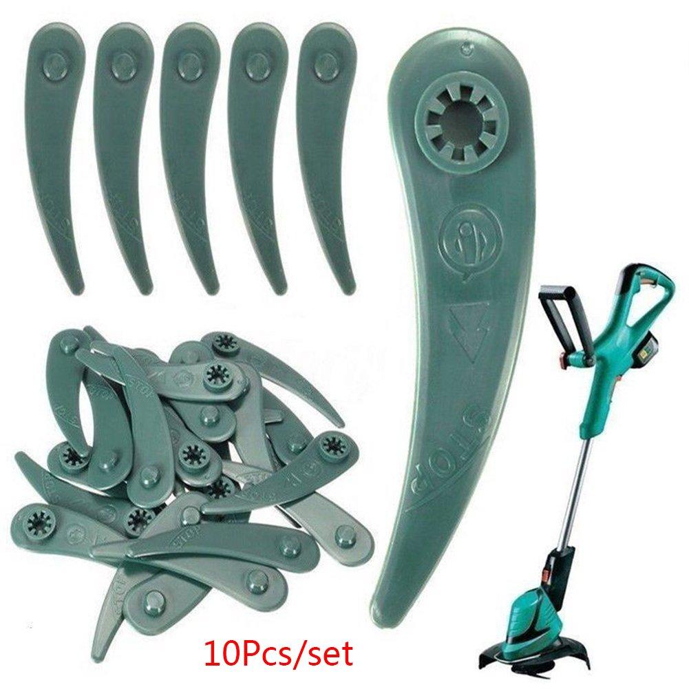 FADDR Lot de 10 ou 20 Lames de Rechange pour Tondeuse Bosch Art 23-18Li Art 23-10.8Li 10 stück Vert