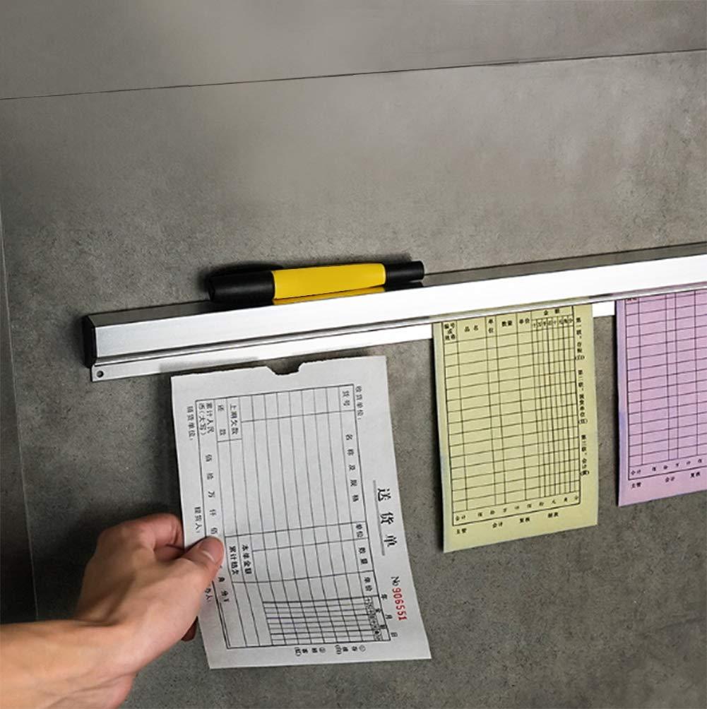 Aleaci/ón de aluminio Bill Folder Durable Montado en la pared Ticket Rack Holder Recibo Rack colgante 50cm