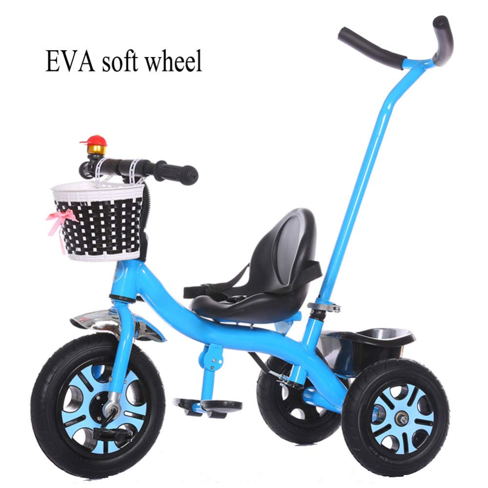 GIFT Kinder-Dreirad Kinderfahrrad Für 2-6 Jahre Babyfahrt Auf Fahrrad Im Freien 4 Farben Geschenk Jahres,Blau
