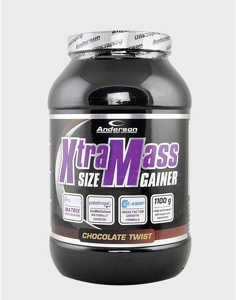 Anderson XTRA MASS SIZE GAINER | Gainer with protein blend PROLACTA, CRE-AMIN, MCT, PALATINOSETM 2600 gr