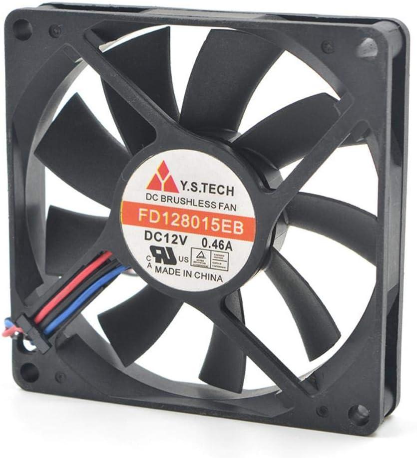 for Y.s.ech yuanshan 8015 FD128015EB 3-line 12V 0.46a 8-cm Violent Cooling Fan