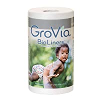 GroVia BioLiners Unscented Diaper Liners, 200 Count