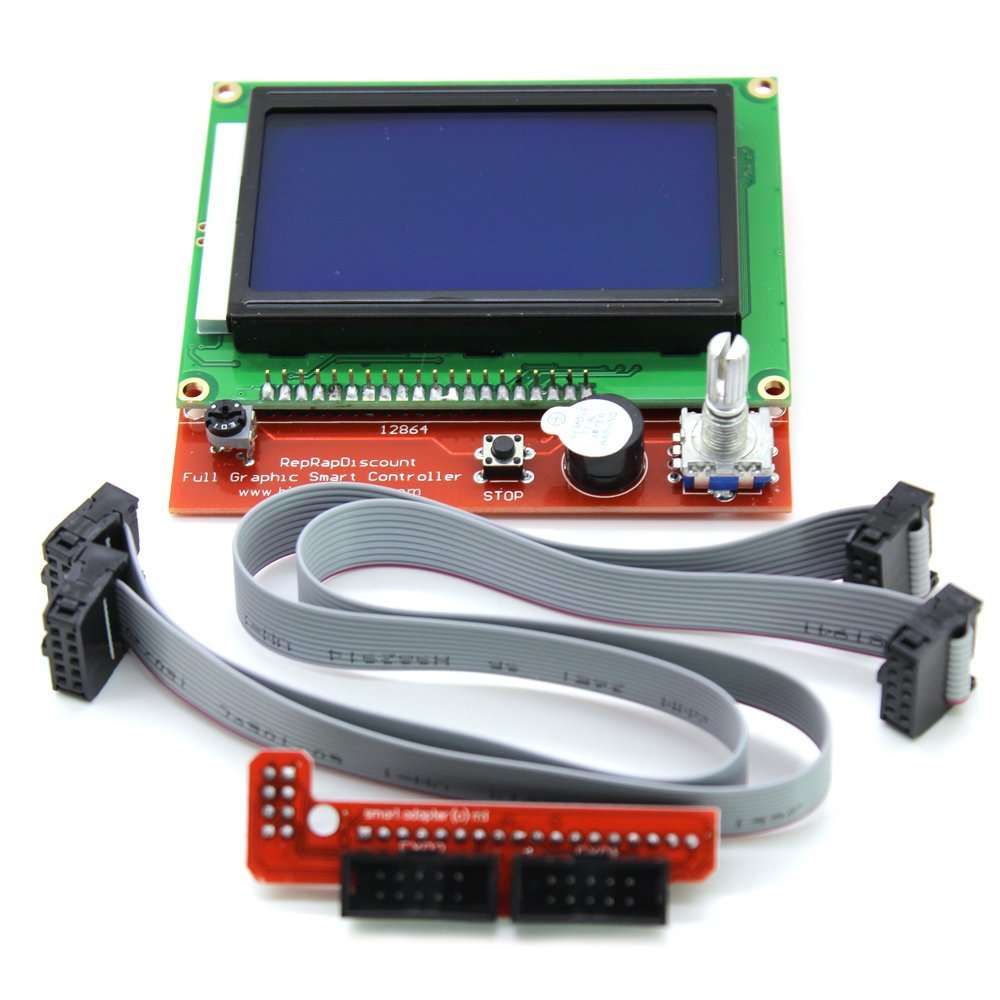 BIQU LCD 12864 Version Graphic Smart Display Controller Module with Adapter and Cable for RAMPS 1.4 Reprap 3D Printer Kit