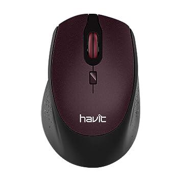 Havit Ratón Inalámbrico Mouse 2.4G Raton Inalámbrico Portatil 2000DPI con Receptor USB, Raton para PC, Ordenador Portátil, Notebook (Marrón): Amazon.es: ...