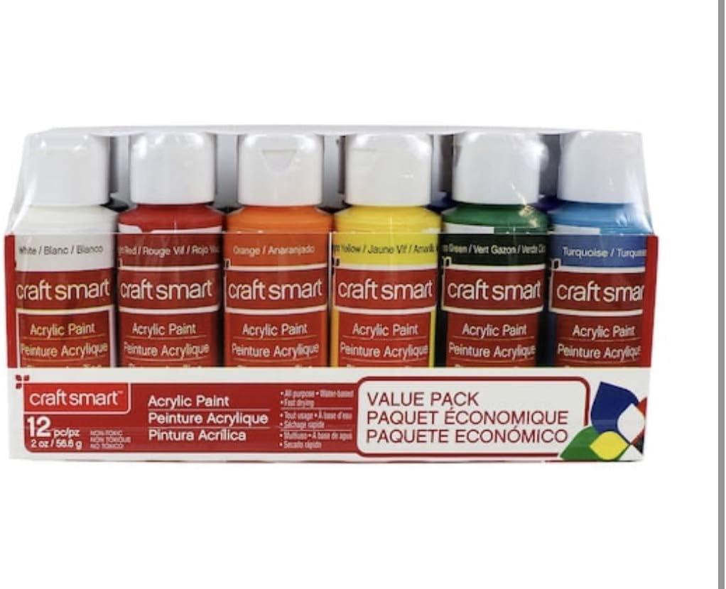 Amazon Com Acrylic Paint Value Set 12 Pc Basic Primary Colors