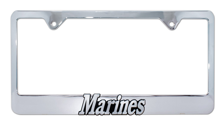 Elektroplate Retired Marines 3D License Plate Frame