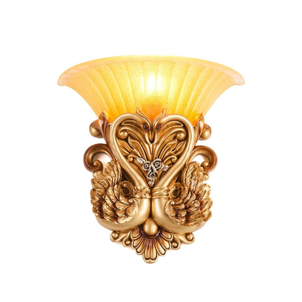 Unbekannt Met Love Wandleuchte Nachttischlampe Schlafzimmer Wohnzimmer Farbe Garten Schwan Treppe Lampe E27 (Farbe   B)