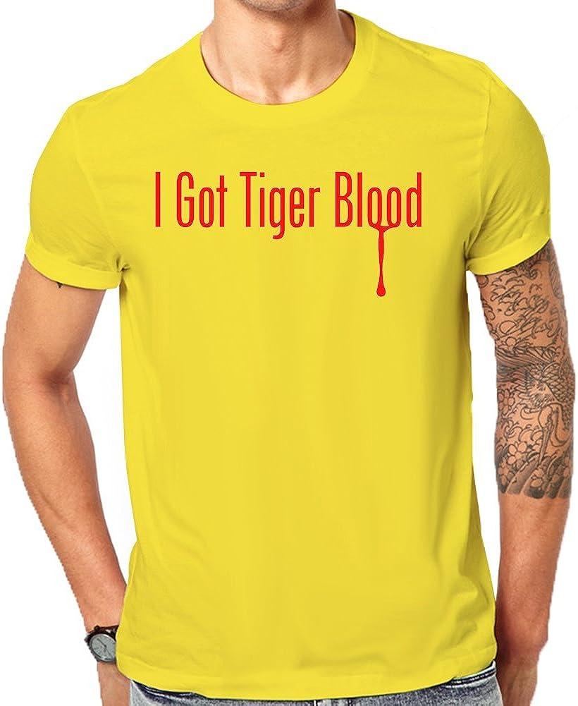 I Got camiseta Charlie Sheen de Tiger Blood Classic – Camiseta de manga corta Amarillo amarillo Small: Amazon.es: Ropa y accesorios